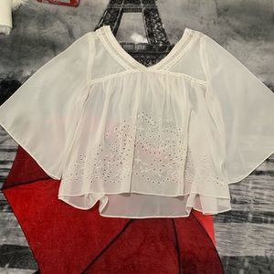 Abercrombie & fitch bojo shear top size small